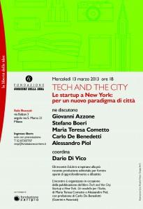 Tech and the City - invito Milano 13-3-2013