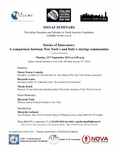 23 September 2013 startup in NYC and in Italy - 1