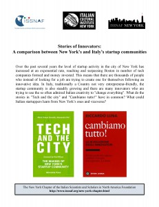 23 September 2013 startup in NYC and in Italy - 2